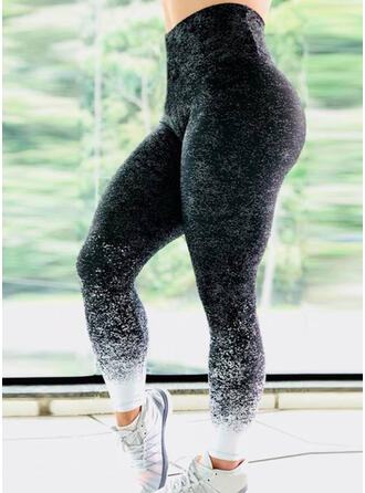 Druck Lange Lange Dünn Sportlich Druck Yoga Gamaschen