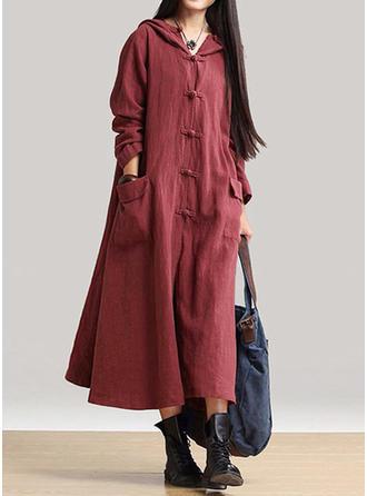 Długie rękawy Koktajlowa Maxi Nieformalny Sukienki