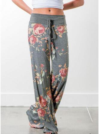 Impression Floral Pantalons de sport