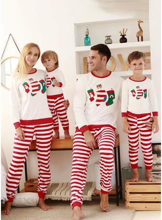 Bär Gestreift Passende Familie Christmas Pajamas