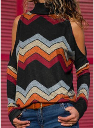 Striped High Neck T-shirt