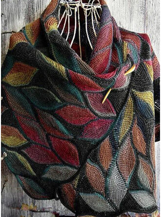 Retro/Vintage/Leaves/Colorful fashion/Comfortable/Leaves Shaped Scarf