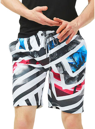 Men's Stripe Quick Dry Board Shorts