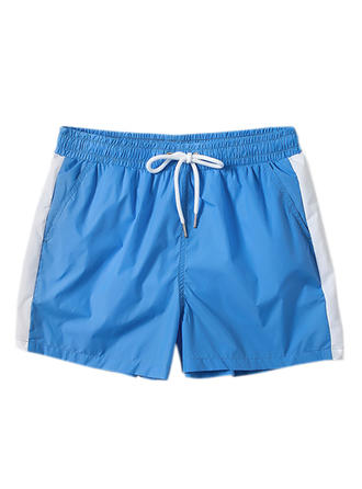 Men's Splice color Lined Swim Trunks
