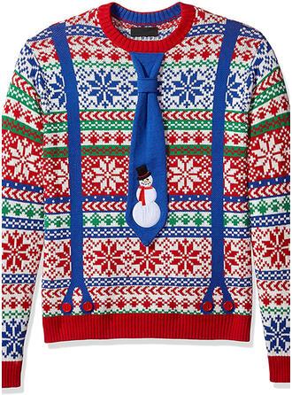 Unisex poliéster Impresión Suéter feo de navidad