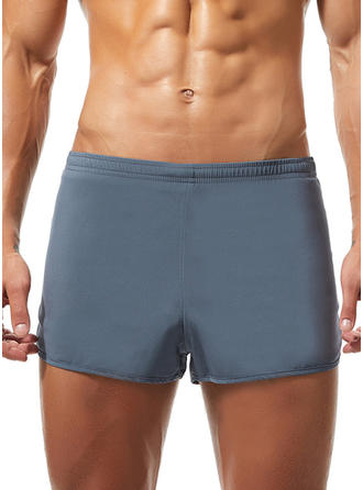 Pour des hommes Splice couleur Taille elastique Maillot de bain