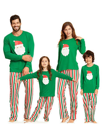 Papai Noel Listra Impressão Família Combinando Natal Pijama