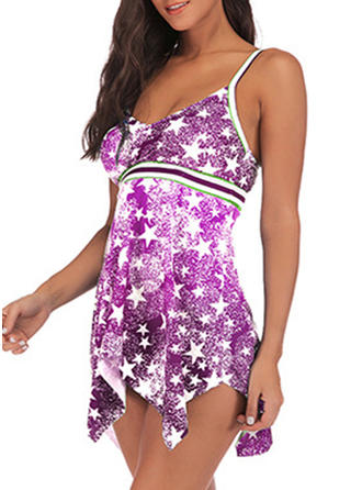 Star String Strap Cute Swimdresses Swimsuits