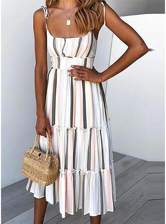 Striped Sleeveless A-line Slip Casual/Vacation Midi Dresses (199294454)