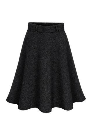 Madera Color sólido Sobre la rodilla Faldas A-Line