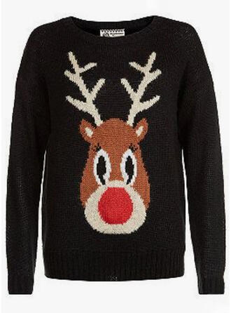 Unisex Poliéster Deer Camisola de Natal Feio
