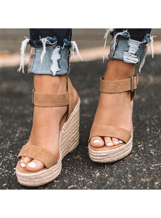 Suede Wedge Heel Sandals Wedges Peep Toe Heels With Others shoes