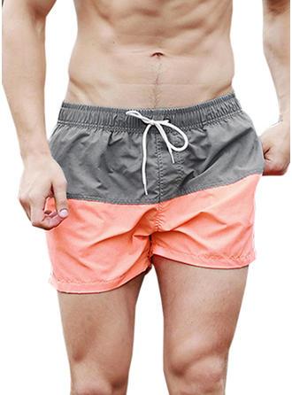 Men's Splice color Swim Trunks