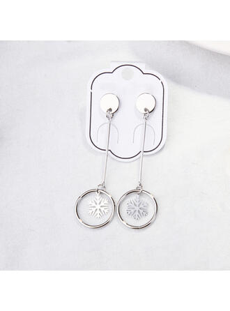 Snowflake Alloy Women's Earrings 2 PCS