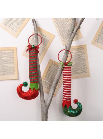 Feliz Navidad Pierna larga Tela Decoración navideña