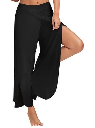 Sin mangas Color sólido Pantalones deportivos