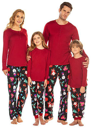 Père Noël Noël Tenue Familiale Assortie