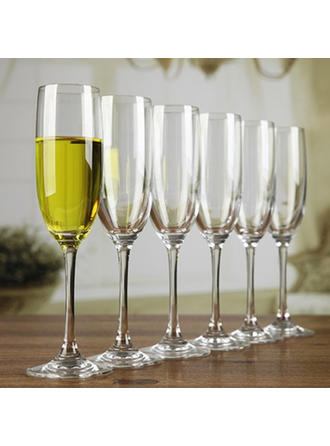 Classic Glass Champagne Glasses (Set of 6)