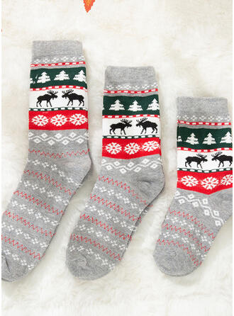 Christmas Reindeer Comfortable/Christmas/Crew Socks/Family Matching/Unisex Socks