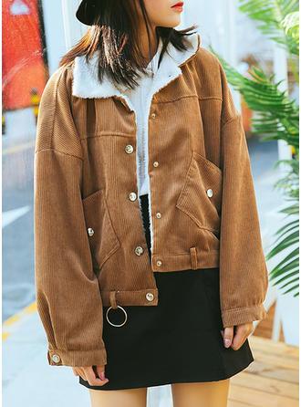 Polyester Long Sleeves Plain Jackets