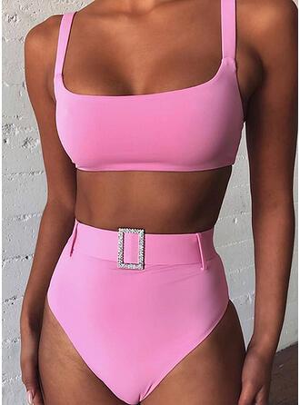 High Waist Strap Sexy Bikinis Swimsuits
