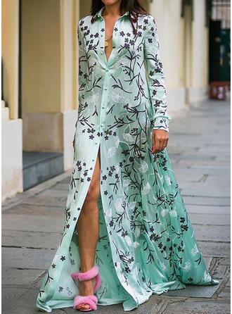 Długie rękawy Maxi Sukienki