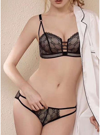 Nylon Chinlon Plain Lingerie Set