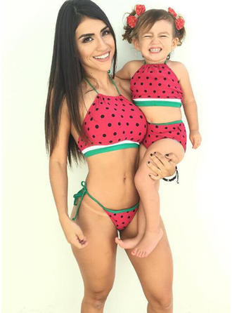 Mommy and Me PolkaDot Matching Swimsuit