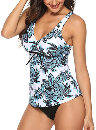 Floral Strap Sexy Tankinis Swimsuits
