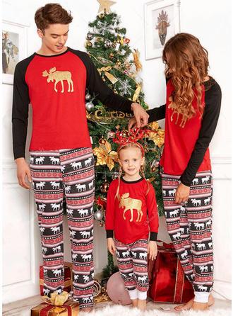 Cervo Stampa Famiglia Partita Di Natale Pajamas