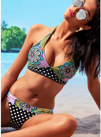 Fleuris Dos Nu Jolis Grande taille Bikinis Maillots De Bain