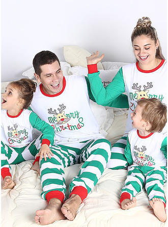Reindeer Striped Matching Family Christmas Pajamas