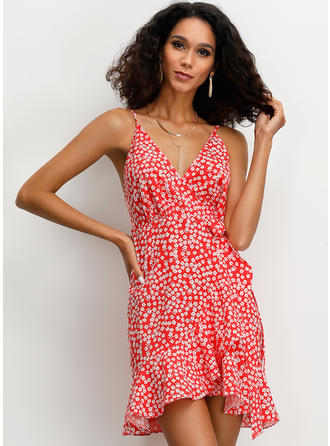 Print Sleeveless A-line Above Knee Casual/Vacation Dresses