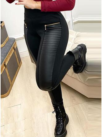 Pevný Nášivky Sexy Kůže Vinobraní Kalhoty Legíny