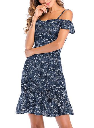 Chiffon With Print Above Knee Dress