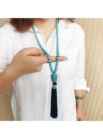 Einzigartig Modisch Exotisch mit Quasten Frauen Halsketten (Sold in a single piece)