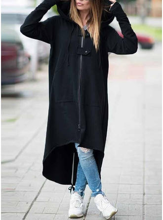 Cotton Long Sleeves Plain Trench Coats