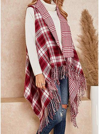 Plaid fashion/simple Poncho/Wraps