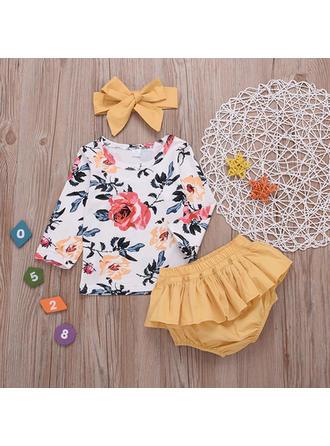 Bébé & Bambin Fille Imprimé floral Coton Short,Bandeau,Pullover Définir La Taille