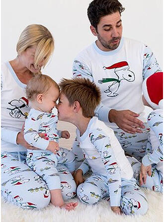 Cartoon Print Family Matching Pajamas
