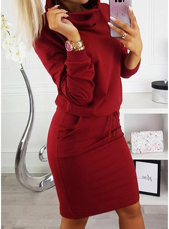 Long Sleeves Knee Length Dresses