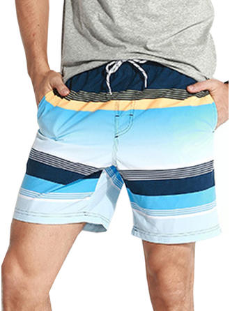 Men's Stripe Lined Board Shorts