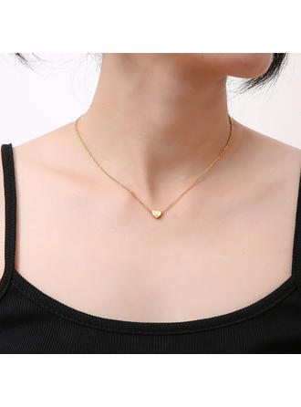 Heart Shaped Alloy Women's Necklaces