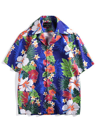 Men's Floral Hawaiian Quick Dry Beach Shirts