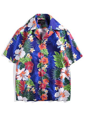 Pour des hommes Floral hawaïen Séchage rapide Chemises de plage
