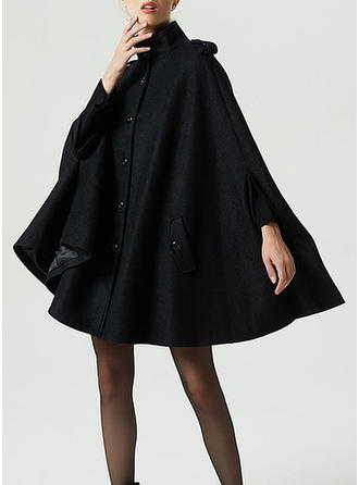 Polyester 3/4 Sleeves Plain Capes