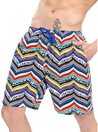 Men's Colorful Print Board Shorts Swimsuit
