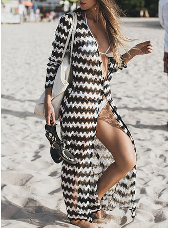 Stripe Fashionable Cover-ups Swimsuits