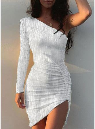 Sequins Long Sleeves Bodycon Asymmetrical Sexy/Party Dresses