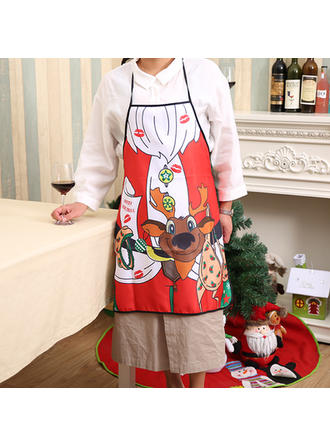 Merry Christmas Polyester Apron